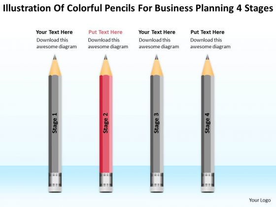 Pencils For Business Planning 4 Stages Ppt Franchise Template PowerPoint Slides