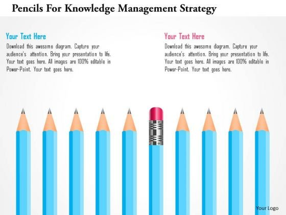 pencils_for_knowledge_management_strategy_powerpoint_template_1