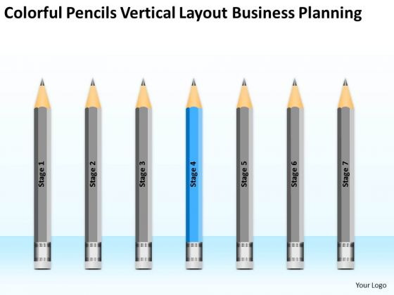 Pencils Vertical Layout Business Planning Ppt Farm PowerPoint Templates