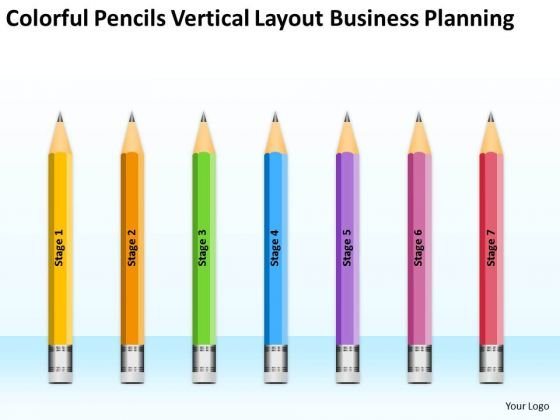 Pencils Vertical Layout Business Planning Ppt Fitness Center PowerPoint Slides