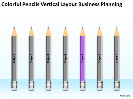 Pencils Vertical Layout Business Planning Ppt Format PowerPoint Slides