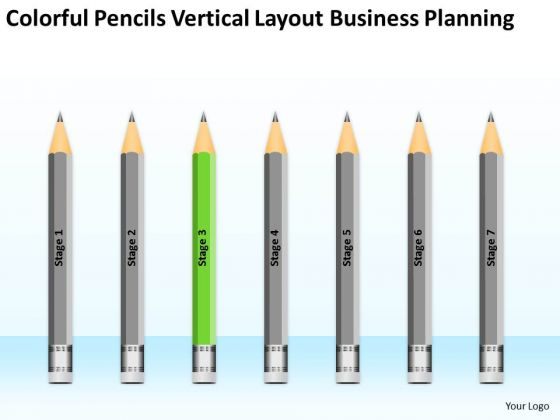 Pencils Vertical Layout Business Planning Ppt Writing Up PowerPoint Slides