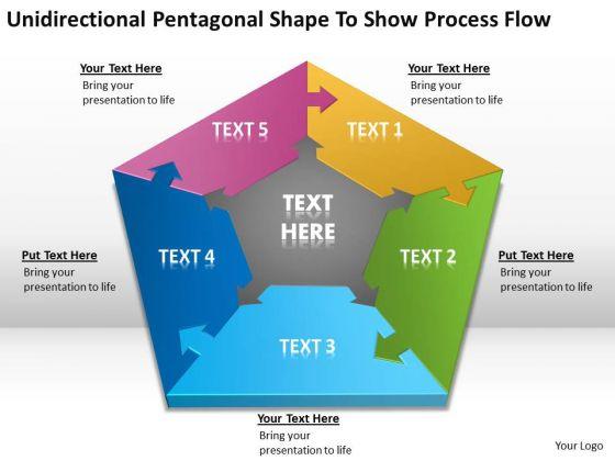 Pentagonal Shape To Show Process Flow Ppt New Business Plan Template PowerPoint Templates