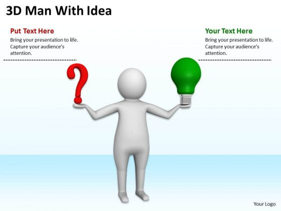 People Business 3d Man With Idea PowerPoint Templates