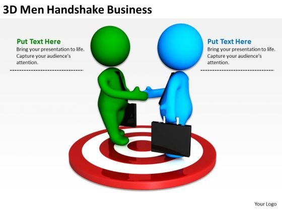 People In Business 3d Men Handshake PowerPoint Presentations Templates
