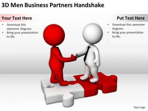 People In Business 3d Men PowerPoint Presentation Partners Handshake Slides