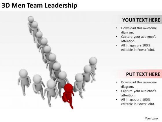 People In Business 3d Men Team Leadership PowerPoint Templates