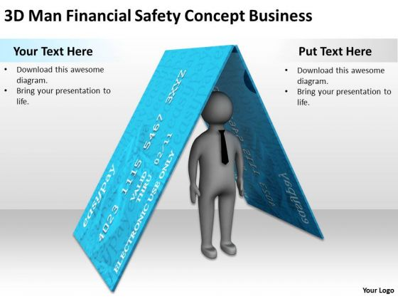 People In Business Financial Safety Concept PowerPoint Presentations Templates