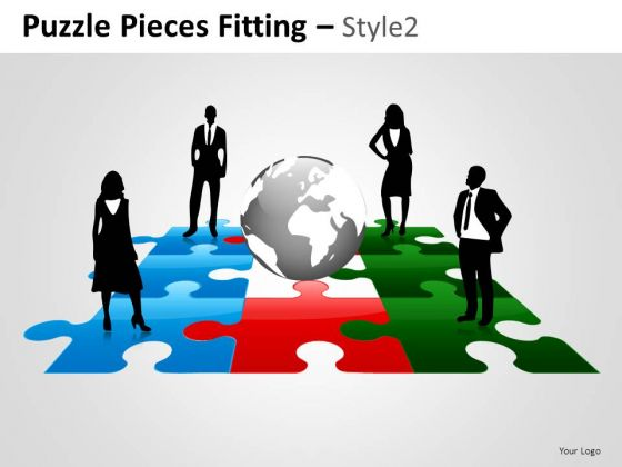 People Puzzle Pieces Fitting PowerPoint Slides And Ppt Diagram Templates