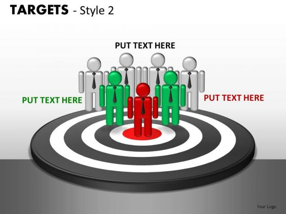 People Targets 2 PowerPoint Slides And Ppt Diagram Templates
