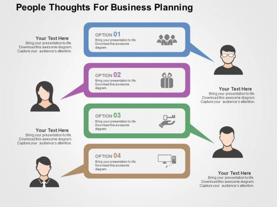 People Thoughts For Business Planning PowerPoint Templates