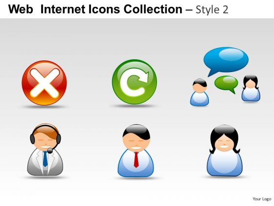 People Web Internet Icons PowerPoint Slides And Ppt Graphics Clipart