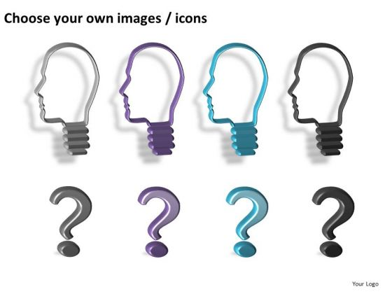 People With Questions PowerPoint Clipart Slides