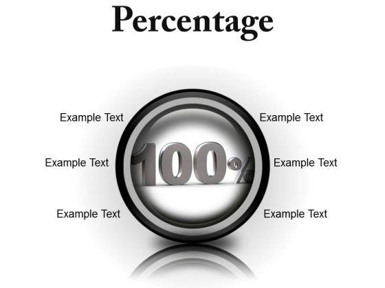 Percantage Success PowerPoint Presentation Slides Cc