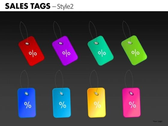 Percent Discounts Tags PowerPoint Slides Ppt Clipart