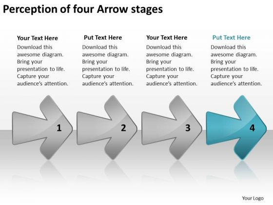 perception of four arrow stages how to design business plan