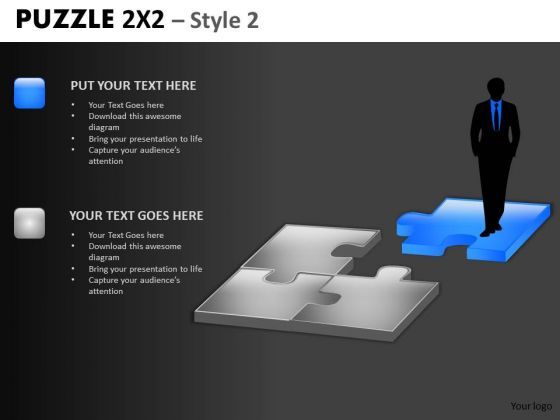 Perfect Man For The Job Puzzle PowerPoint Templates And Hr Ppt Slides