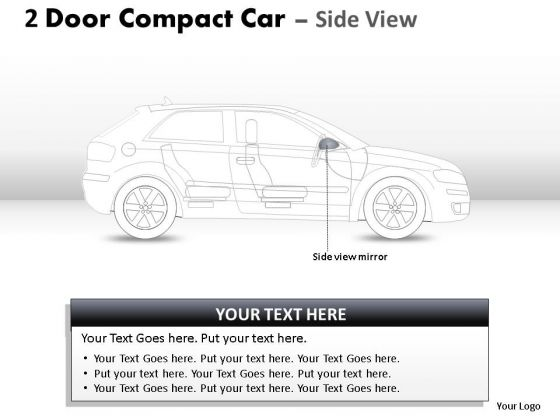 Performance 2 Door Blue Car Side PowerPoint Slides And Ppt Diagram Templates