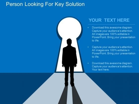 Person Looking For Key Solution PowerPoint Templates