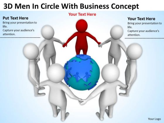 Pictures Of Business Men Circle With New PowerPoint Presentation Concept Slides