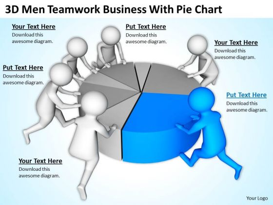 Pictures Of Business Men PowerPoint Presentation With Pie Chart Slides