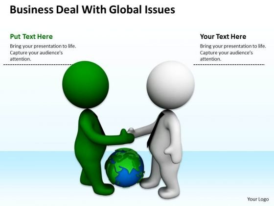 Pictures Of Business Men PowerPoint Presentations Deal With Global Issues Slides