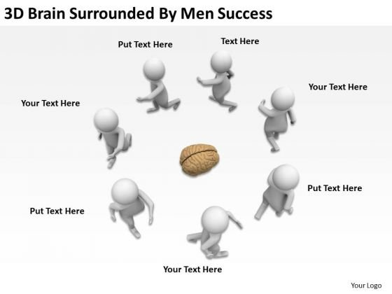 Pictures Of Business Men Surrounded By Success PowerPoint Templates Ppt Backgrounds For Slides