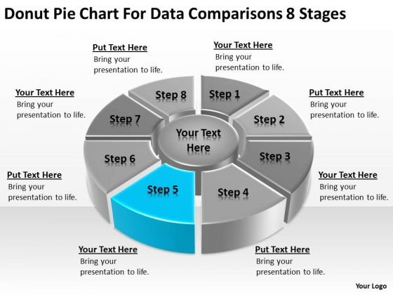 Pie Chart For Data Comparisons 8 Stages Business Plan Downloads PowerPoint Templates