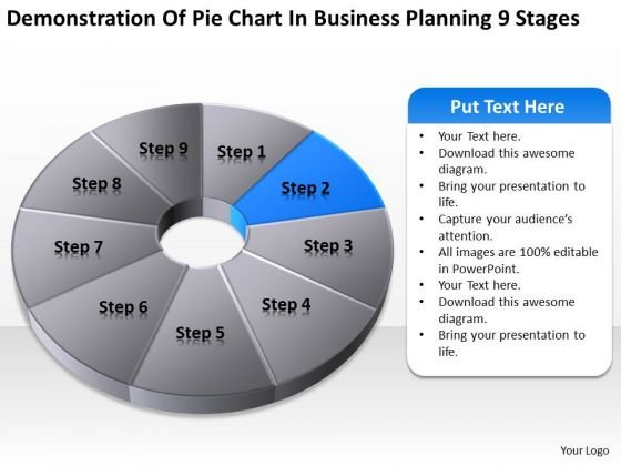 Pie Chart In Business Planning 9 Stages Ppt Outlines PowerPoint Slides
