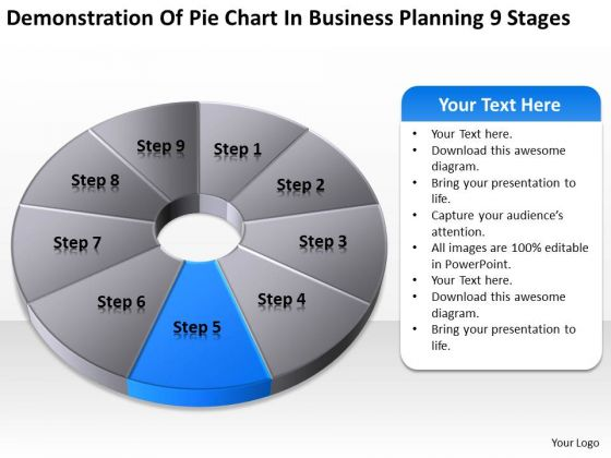 Pie Chart In Business Planning 9 Stages Ppt Template PowerPoint Templates