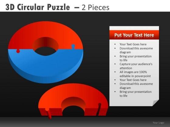 Pie Chart PowerPoint Slides 2 Pieces Pie Chart Ppt Templates