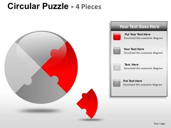 Pie Chart Puzzle PowerPoint Slides And Ppt Diagram Templates