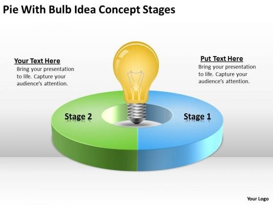 Pie With Bulb Idea Concept Stages What Is Business Continuity Plan PowerPoint Slides