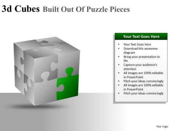 Piece Of Cube PowerPoint Slides And Ppt Diagram Templates
