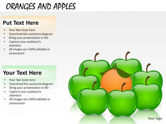 Piece Oranges And Apples PowerPoint Slides And Ppt Diagram Templates