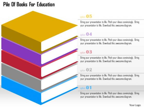 Pile Of Books For Education Presentation Template