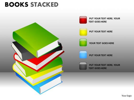 Pile Of School Books PowerPoint Ppt Templates