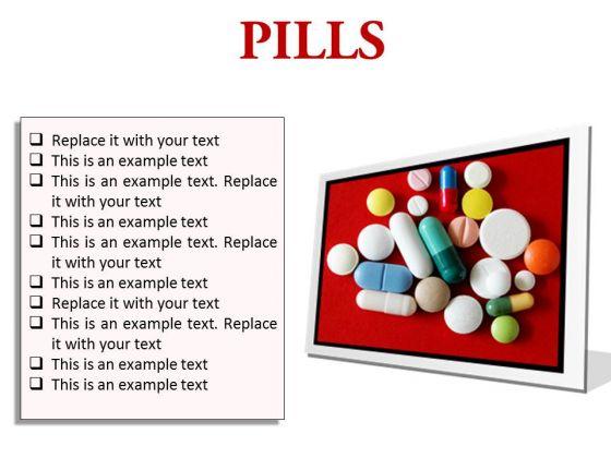 Pills Medical PowerPoint Presentation Slides F