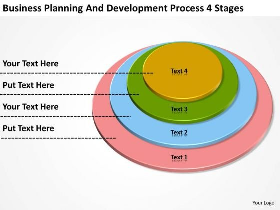 Planning And Development Process 4 Stages Example Business Plans PowerPoint Templates