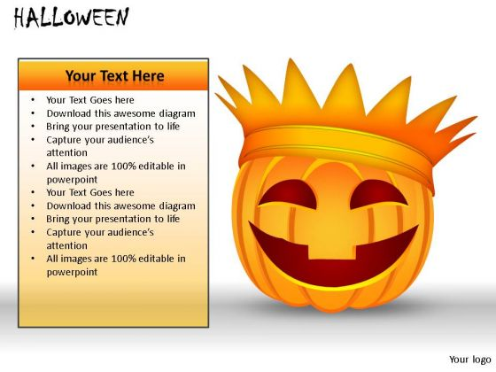 Plant Halloween PowerPoint Slides And Ppt Diagram Templates