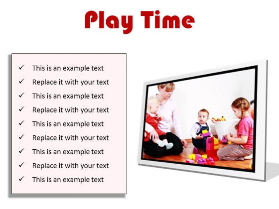 Play Time Game PowerPoint Presentation Slides F