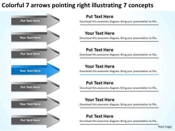 Pointing Right Illustrating Concepts Microsoft Business Plan Software PowerPoint Slides