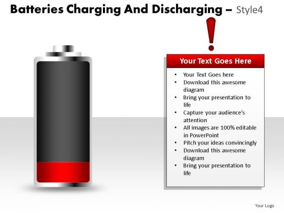 Polarity Batteries Charging And Discharging 4 PowerPoint Slides And Ppt Diagram Templates