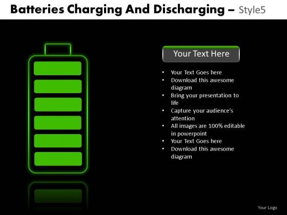 Polarity Batteries Charging And Discharging 5 PowerPoint Slides And Ppt Diagram Templates