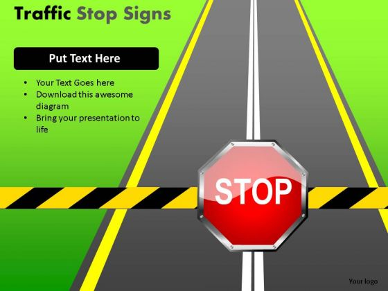 Policeman Road Traffic Stop PowerPoint Slides And Ppt Diagram Templates