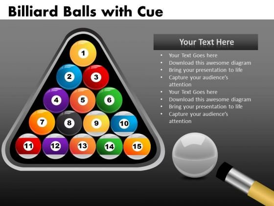 Pool Balls Rack PowerPoint Ppt Templates