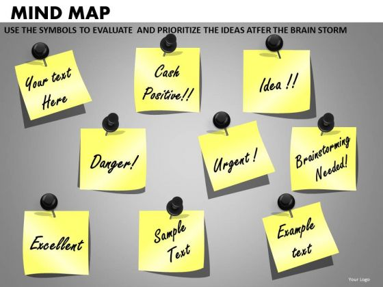 Post It Notes With Editable Text PowerPoint Ppt Templates And Slides