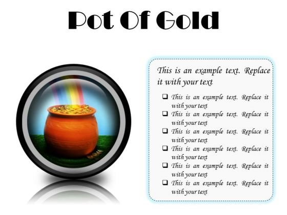 Pot Of Gold Money PowerPoint Presentation Slides Cc