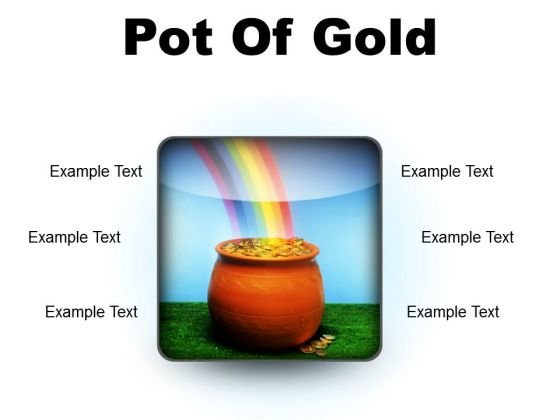 Pot Of Gold Money PowerPoint Presentation Slides S