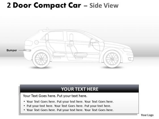 Power 2 Door Blue Car Side PowerPoint Slides And Ppt Diagram Templates
